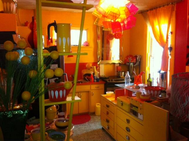 bright large kitchen with big work island,dishwasher