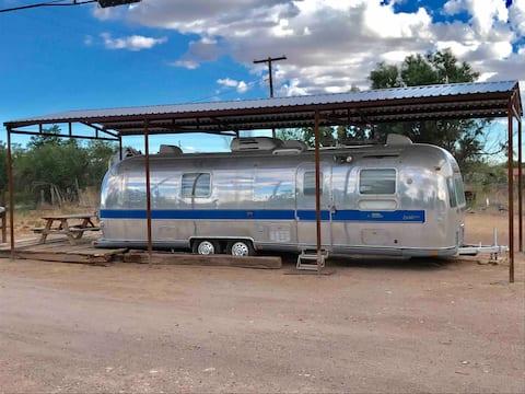 Silver Airstream Camper