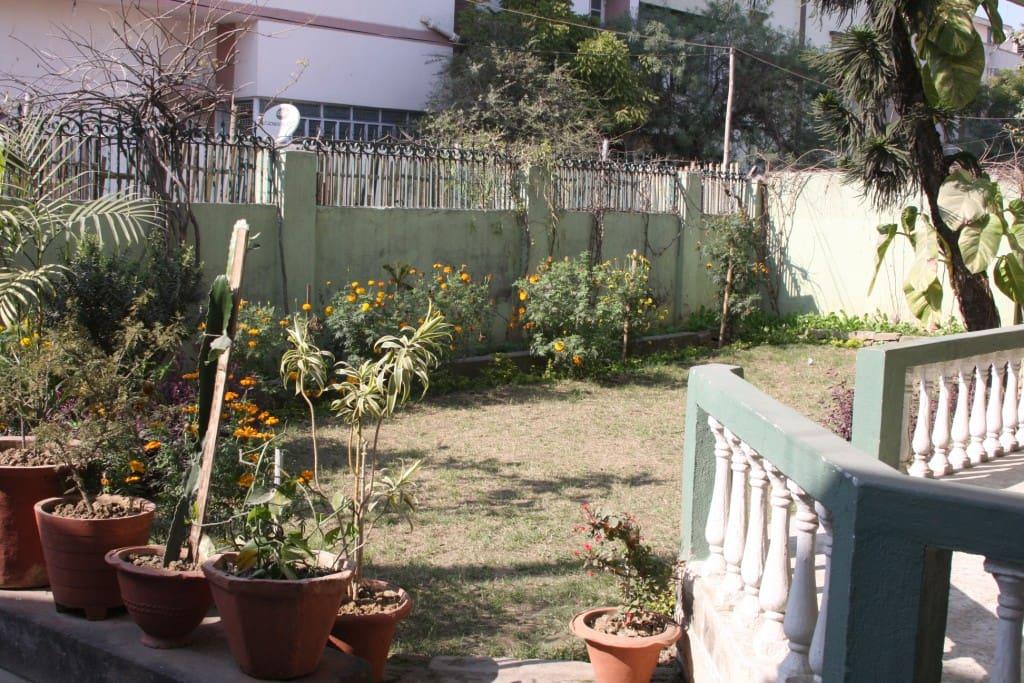 Garden in front..