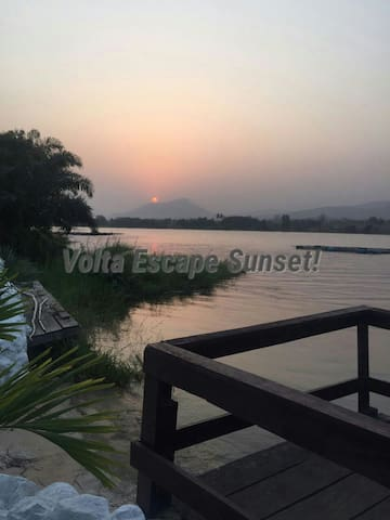 Volta escape chalets - Akosombo - Almhütte