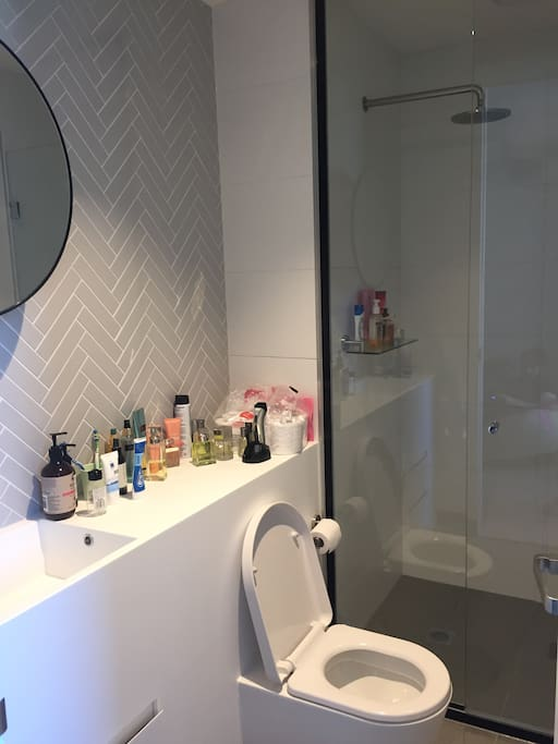 Very modern and clean and nice and lovely bathroom. I clean it everyday