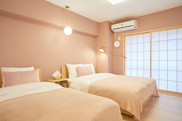 Shinjuku central location Apt -ShinOkubo Sta(3min)