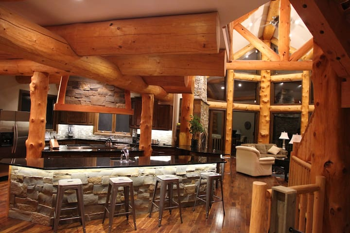 Mountain view Log home