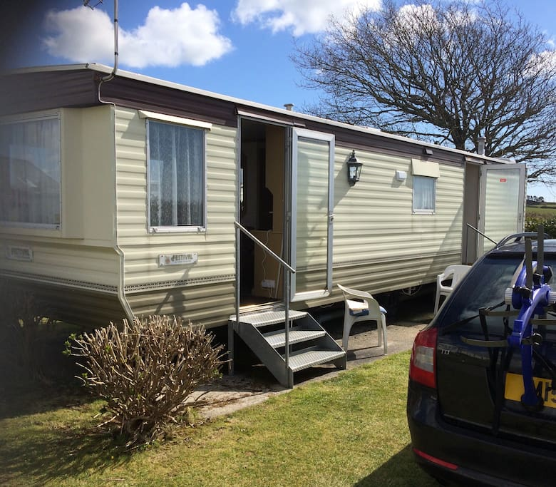 Three bedroomed caravan on a family friendly site near Cornwall's premier resorts. Looe & Polperro with their stunning beaches and bustling harbours are both in close proximity. Private parking space.