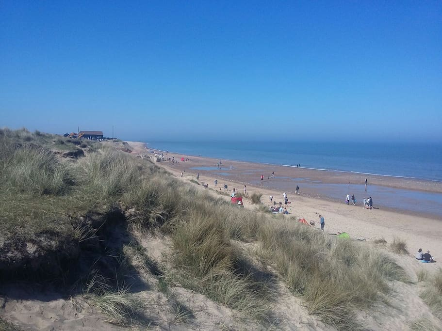 45 minutes away Dunes at Winterton beach.  Dog friendly with Cafe and Ronaldo ice cream.