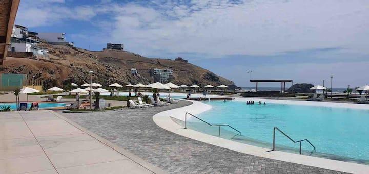 Casa equipada Club Playa Honda,  10 min Asia, Lima