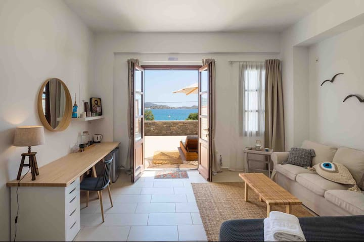 Luxury Front Sea view Suite Syros Island Cyclades