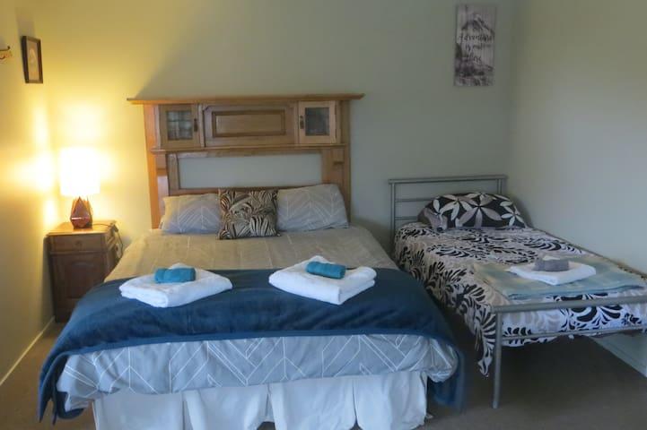 Comfy beds inside cabin