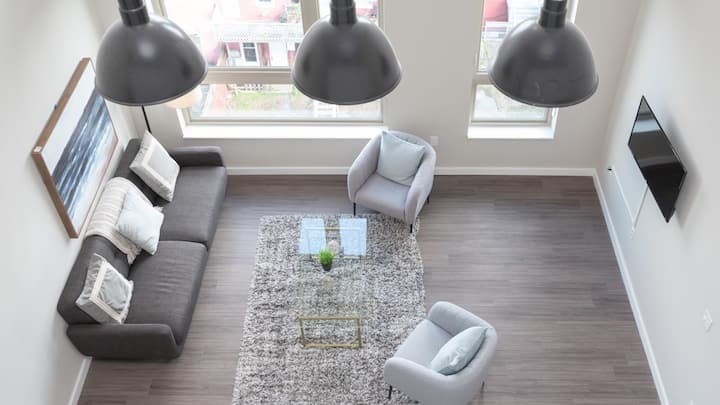 Have a staycation in this 2BD apartment with fast wifi
