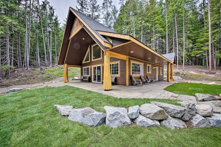 NEW! Spacious Cabin By Priest Lake & Elkins Resort