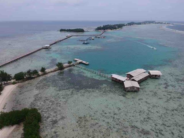 Tidung Lagoon Resort Block D ocean & Island view