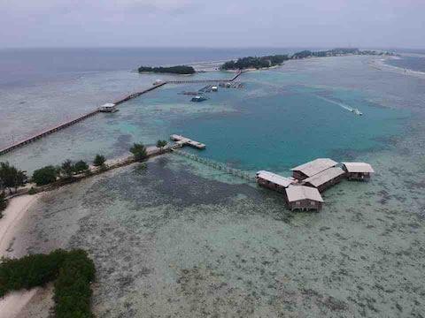 Tidung Lagoon Resort Block D ocean & Island view