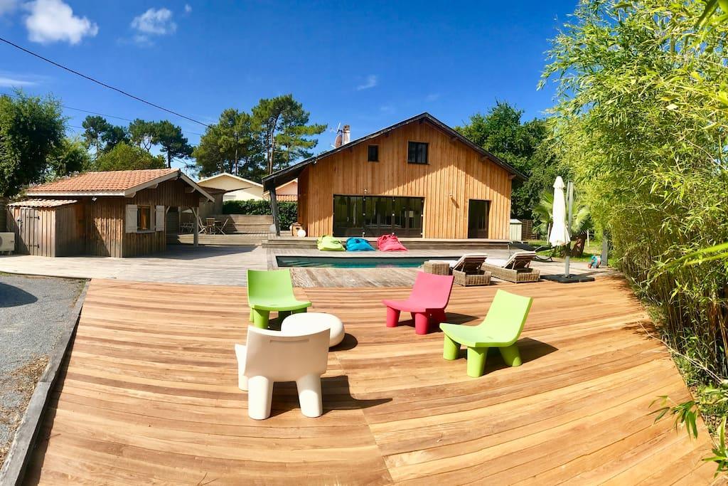 Maison cap ferret avec piscine maisons louer l ge for Maison a louer cap ferret avec piscine