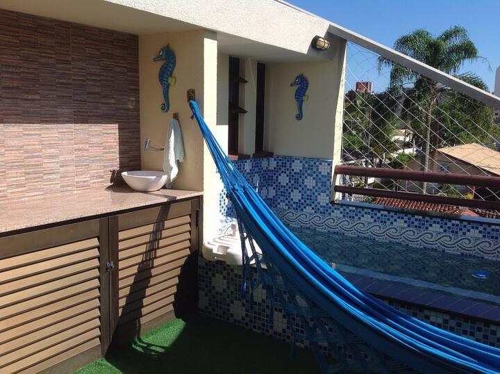 Cobertura com piscina Praia Brava, perto da Mansa