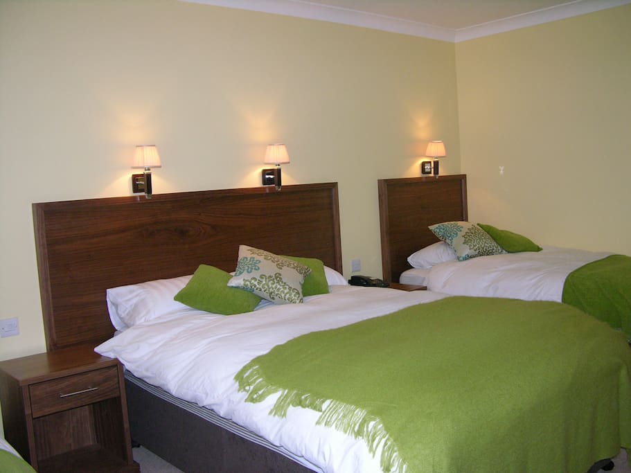 Most of our 6 ensuite room have a Double and a Single Bed and plenty of space besides.