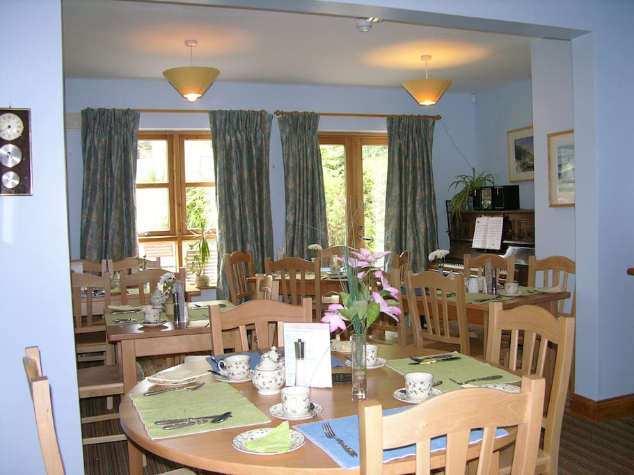 Our bright and airy Breakfast room with plenty of choices for Breakfast