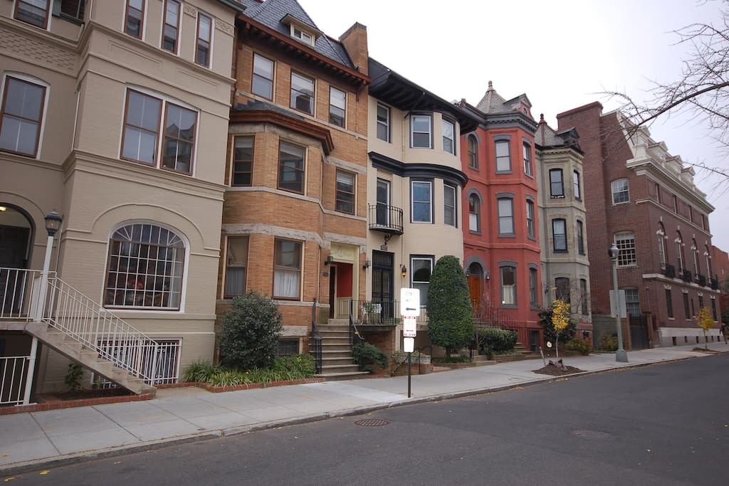 Great, quiet Corcoran Street-- one of the quaintest streets in the city