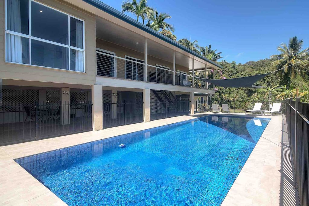 Beautiful large home with 14m x 5m lap pool.