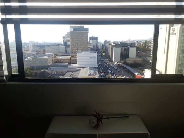The view of Windhoek from 'The Top Floor'!