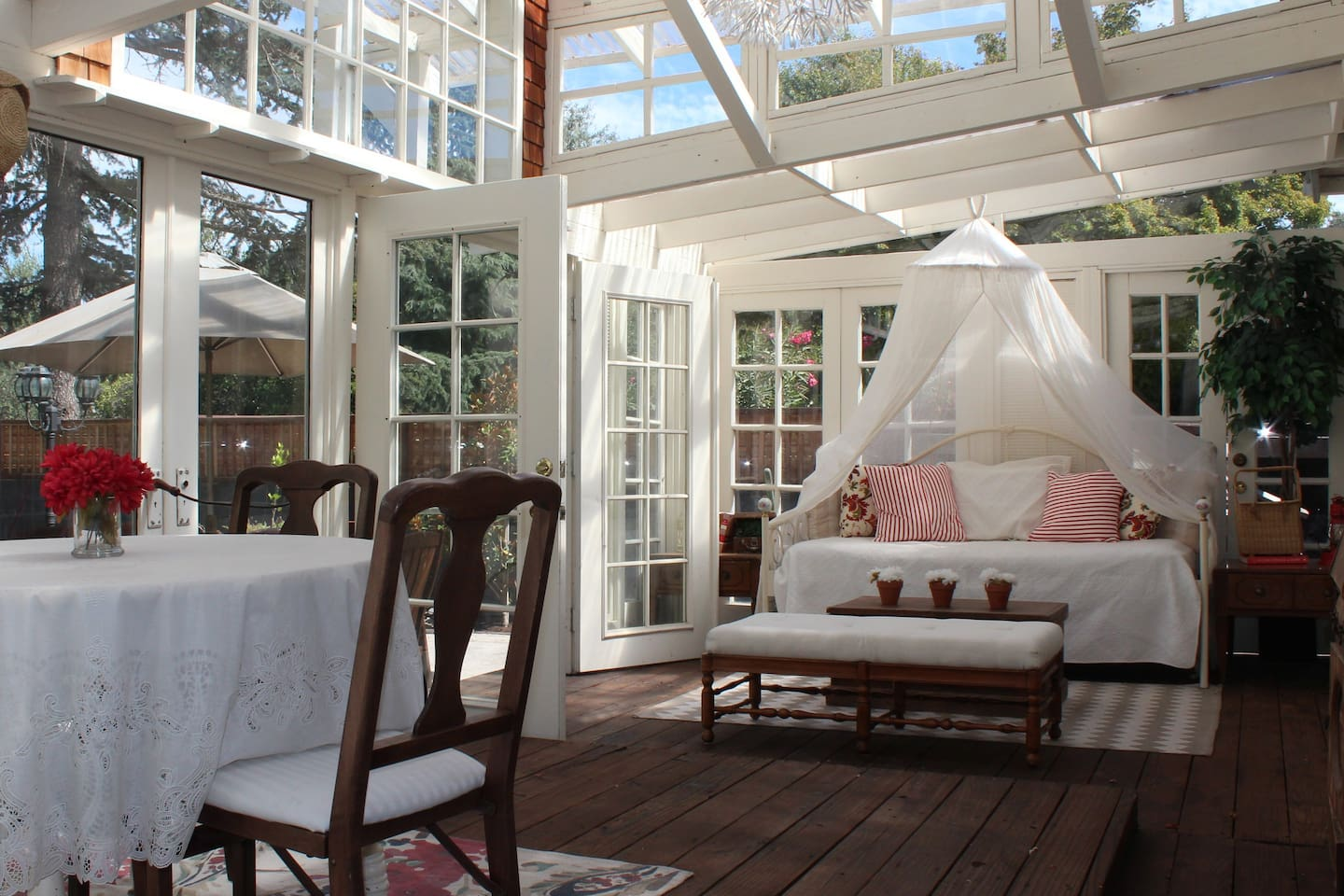 Spend quality time in the sunroom for some R&R.