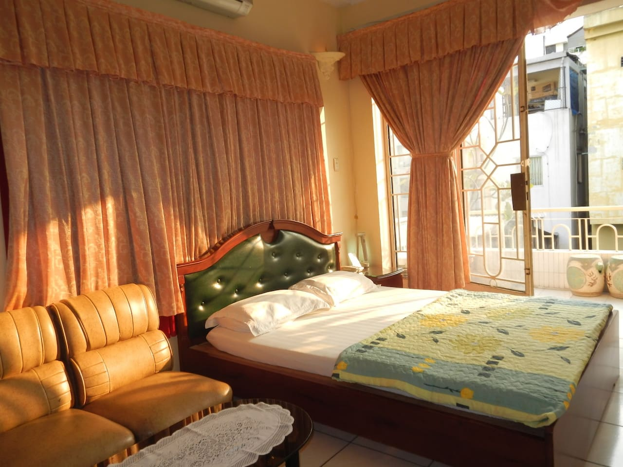 Double bed for 2 with private balcony.