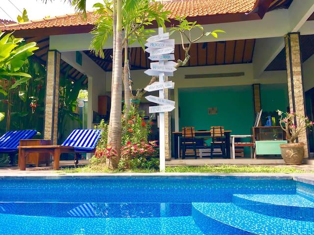 Villa 2BR + pool - Berawa  Canggu 1km Beach