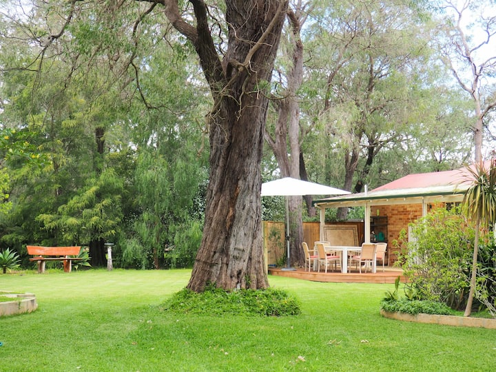 Family Home on a Peaceful Acre Minutes from Beach