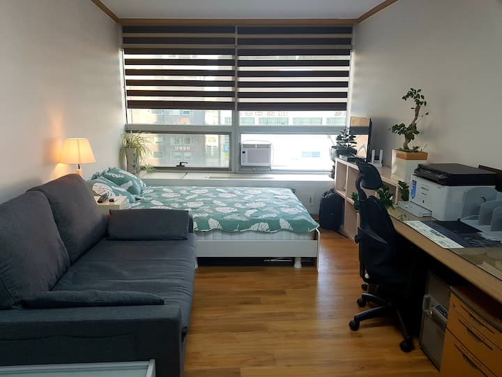 Bright Cozy Studio in City Center of Suwon 수원 영통역