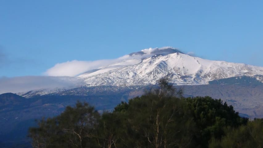 suspended vulcano view on Etna