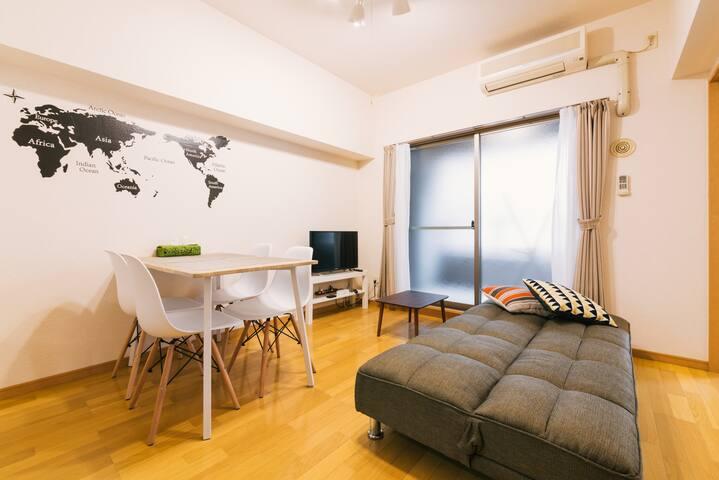 8MIN|HAKATA 博多 sta| MAX5|WiFi - Hakata-ku, Fukuoka-shi - Apartment