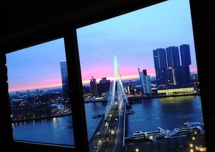 B1 Erasmusbrug Bedroom + Gym - Rotterdam - Lakás