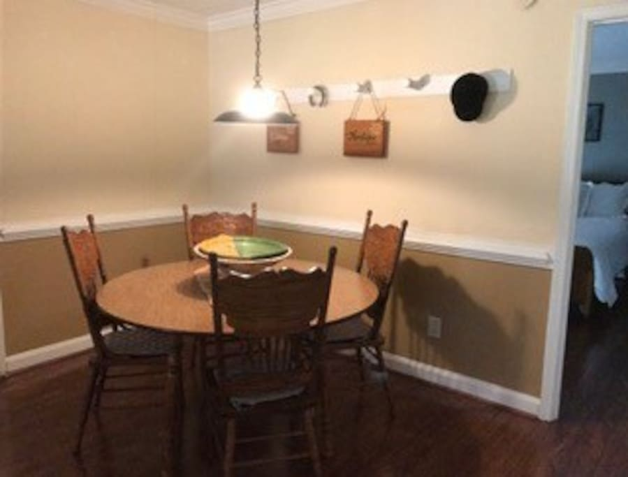 Dining room just off kitchen.  Great for eating or work space