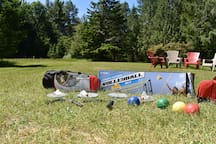 Set up Badminton, Volleyball, Bocce ball games in the sports field, provided for your use. Family Olympics anyone?