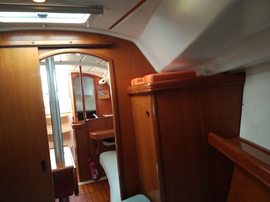 Vista desde camarote de proa