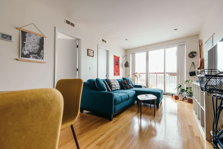 Sleek Room with Skyline Views in Fort Greene - ブルックリン - アパート