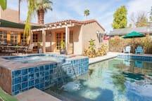 Refreshing salt water pool  and spa.