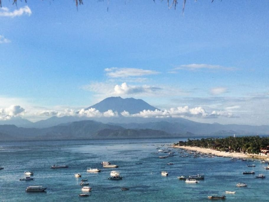Mt Agung from the Villa