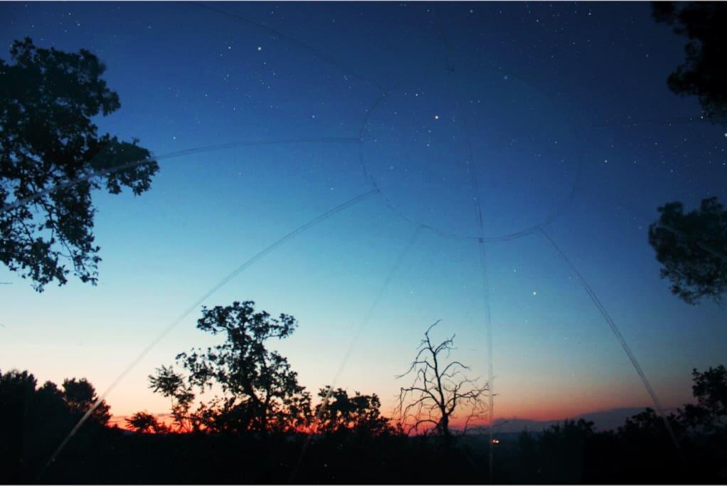 Kijk liggend naar de sterren!