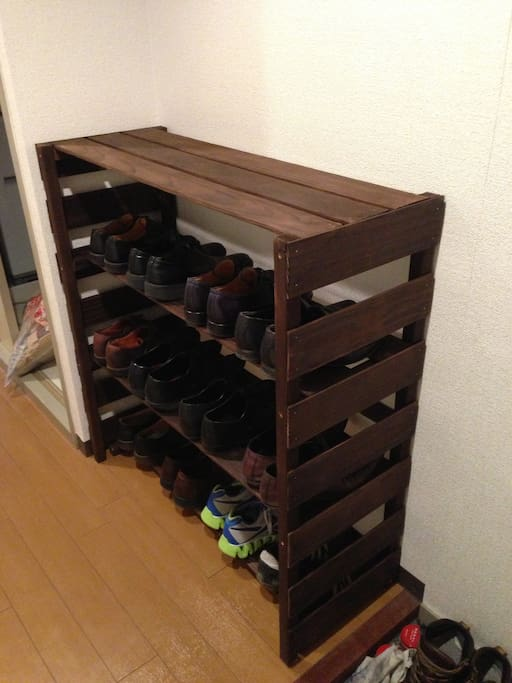Hand made shoe closet!