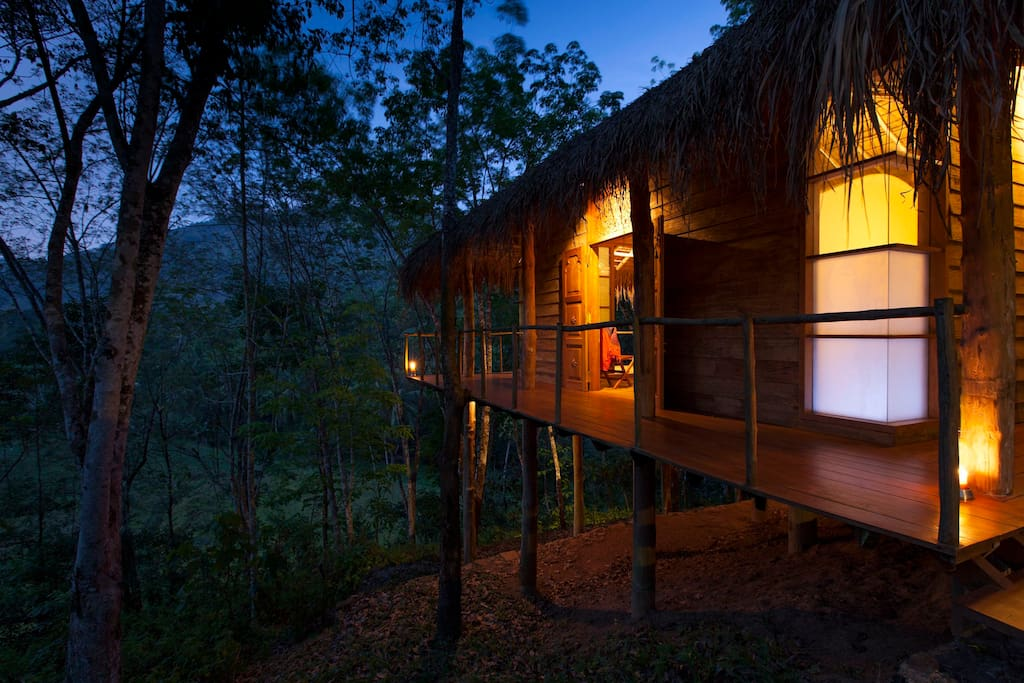Mangosteen Chalet at dusk