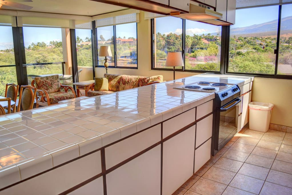 Large extra windows in the kitchen