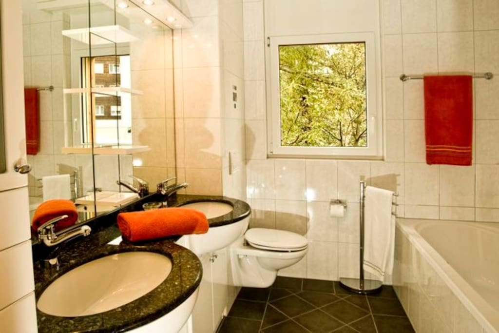 Main bathroom (shower just out of sight)