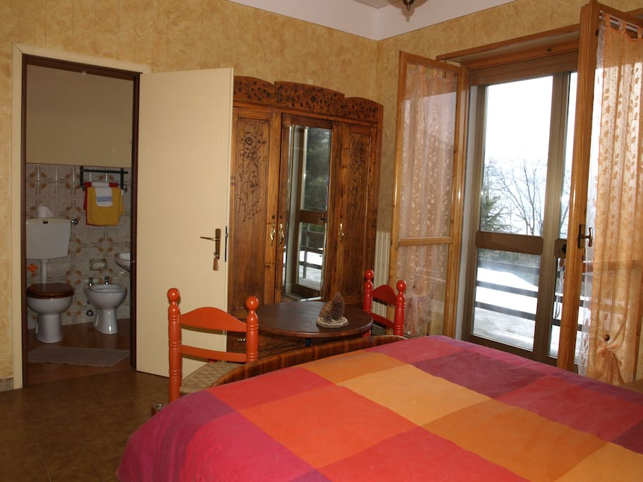 Cozy and comfortable and you can step right out to the fresh alpine air and spectacular views