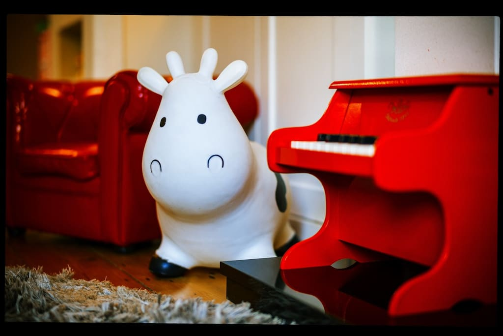 Every home needs a mini chesterfield, bouncy Cow and a tiny Piano
