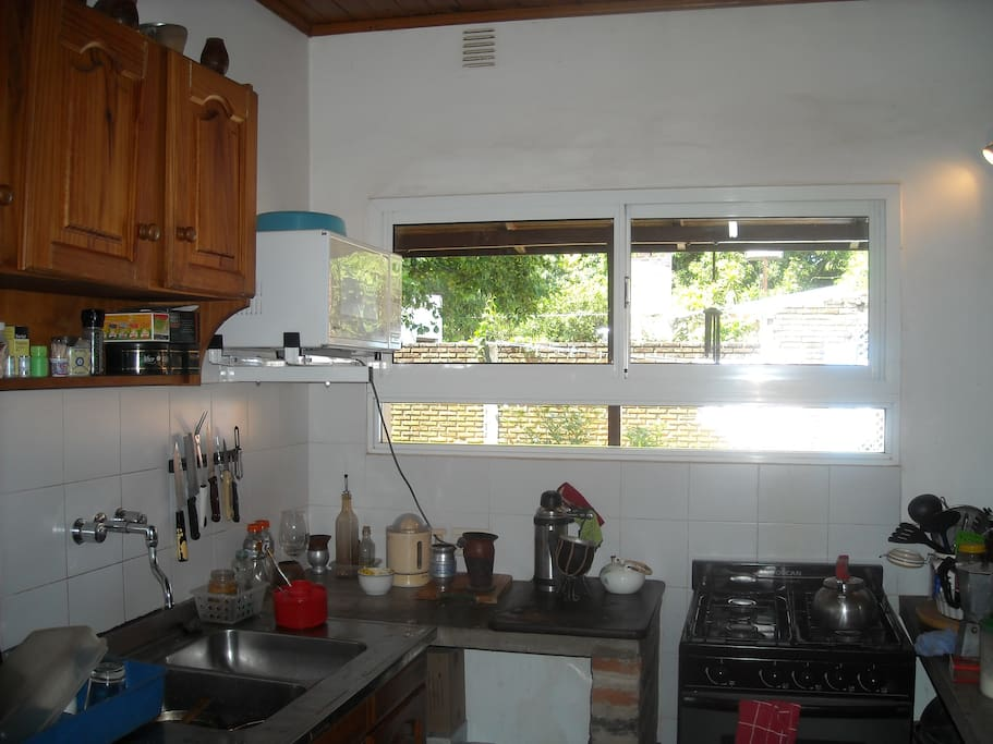 fully equipped kitchen for your use, - including washing mashine
