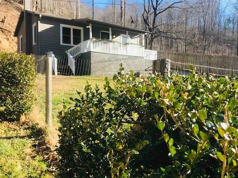 Farmhouse cottage in mountain farming community