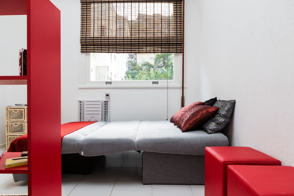 air Conditioning and sofa bed for couple