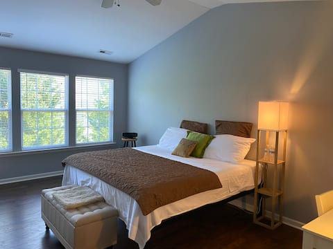Comfortable big master room with private bathroom