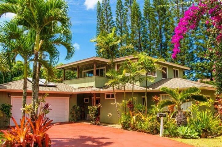 Garden Island Hale w/Private Patios, Sleeps Six - Princeville - Rumah
