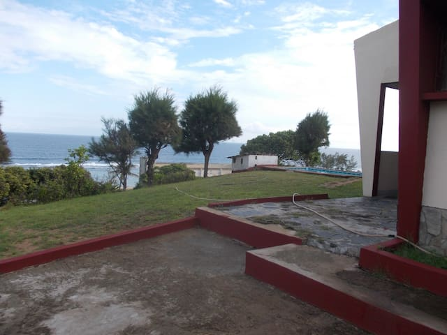 Garden area and sea view